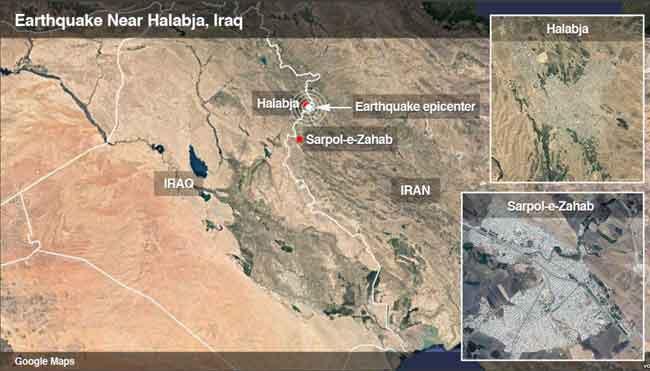 Deadly 7.3 Quake Strikes Iraq-Iran Boarder Region