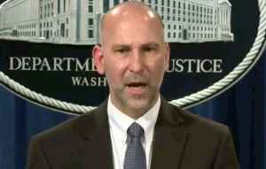 FILE - Steven D'Antuono, head of the Federal Bureau of Investigation (FBI) Washington field office, speaks during a news conference in Washington. CSPAN video screenshot