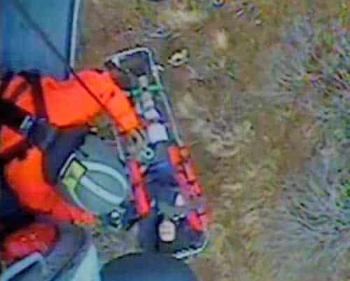 Coast Guard Air Station Jayhawk Crew Hoists Bear Mauling Victim from Afognak Island
