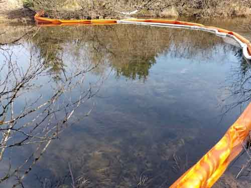 Cleanup Continues at Buskin River Oil Spill Site