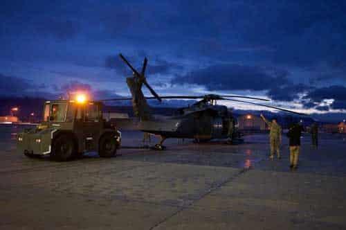 Alaska Air Guardsmen Rescue Crash Survivors at Montague Island