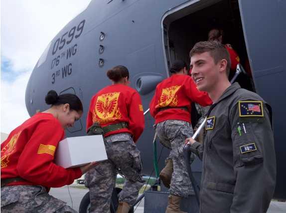 JROTC Cadets Visit Alaska Air National Guard Wing