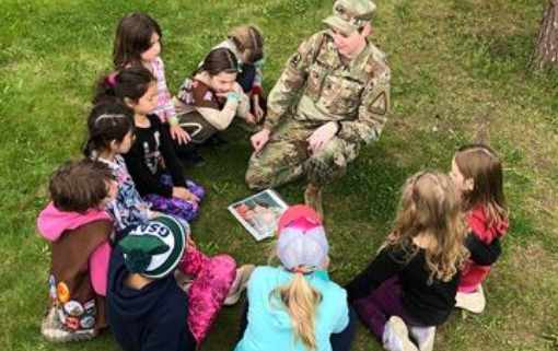 Alaska National Guard Partners to Join Girl Scouts Patch Program