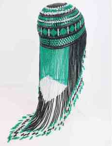 An Alutiiq headdress created by Patricia Abston-Cox. Image-Alutiiq Museum