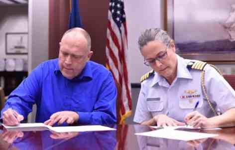 Coast Guard, Juneau School District Representatives Expand Partnership