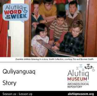 Story-Alutiiq Word of the Week-January 12th