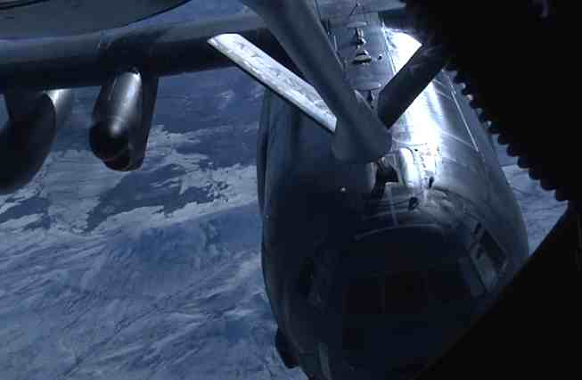 Alaska Air National Guard Refuels HC-130J Combat King II at 20,000 feet