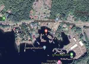 Refuge Cove Marina in Ketchikan. Image-Google Maps