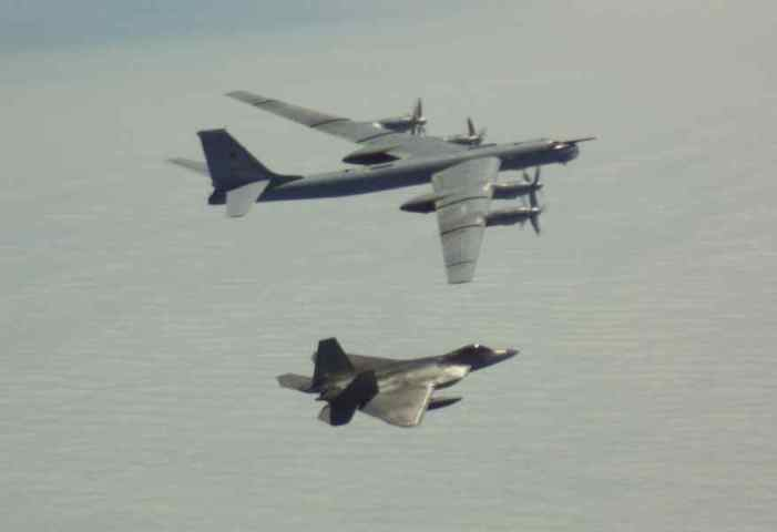 Raptors Intercept Two Formations of Russian Bombers off of Alaska's Coast Wednesday