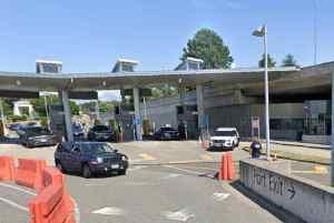 Canadian/US border in Blaine, Washington. Image-Google Maps