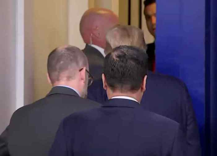 Trump Abruptly Escorted from White House Briefing After Shots Fired Nearby