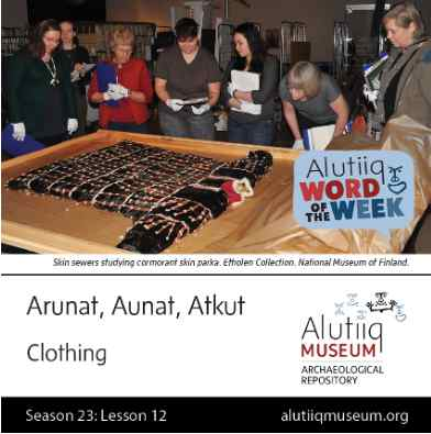 Clothing-Alutiiq Word of the Week-September 13th