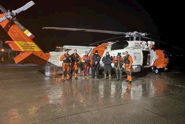 Coast Guard Rescues Three from Boats Stuck in Ice, near Hole in the Wall Glacier