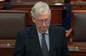 Senate leader Mitch McConnell refusing vote on $2,000 stimulus disbursement on Senate floor.