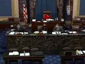 US Senate debates defense bill veto override. CSPAN video screengrab