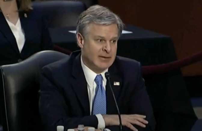 FBI Chief Says Riot at US Capitol Was 'Domestic Terrorism'