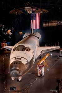 The space shuttle Discovery at the National Air and Space Museum's Steven F. Udvar-Hazy Center in Chantilly, Virginia. (Courtesy Dane Penland/Smithsonian National Air and Space Museum)
