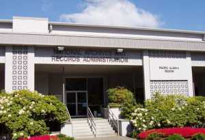 National Archives building in Seattle.  Image-National Archives