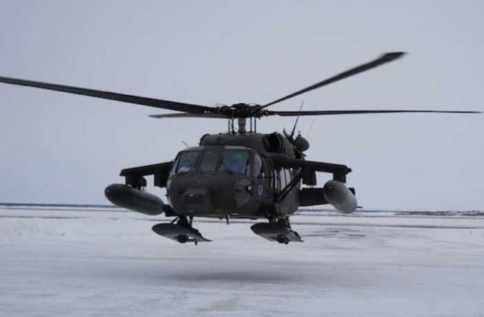 Alaska Army National Guard deploys Black Hawk to Bethel for spring flood season