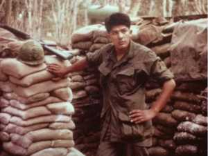 Photo provided with permission by George Bennett, Sr. This is Mr. Bennett shortly after arriving in Vietnam in 1967. Mr. Bennett served in the 2/12th Infantry 3rd Brigade, 25th Infantry Division and was assigned to Dau Tieng Base Camp.