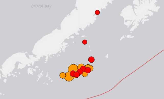 Large 8.2, 6.2, and 5.6 Earthquakes Strike South of Alaska Peninsula