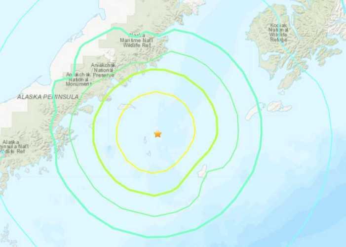 6.9 Magnitude Quake near Chignik Monday Morning
