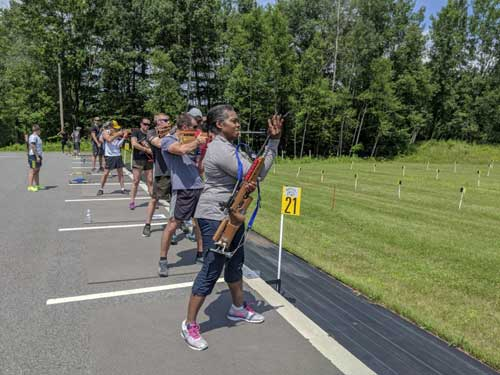 No Snow, No Problem for these Beginner Biathletes