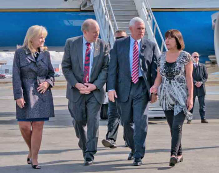 Governor Walker Meets with Vice President Pence in Anchorage