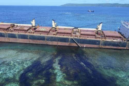 Bauxite Ship Continues to Spill Oil near Solomon Island UNESCO World Heritage Site