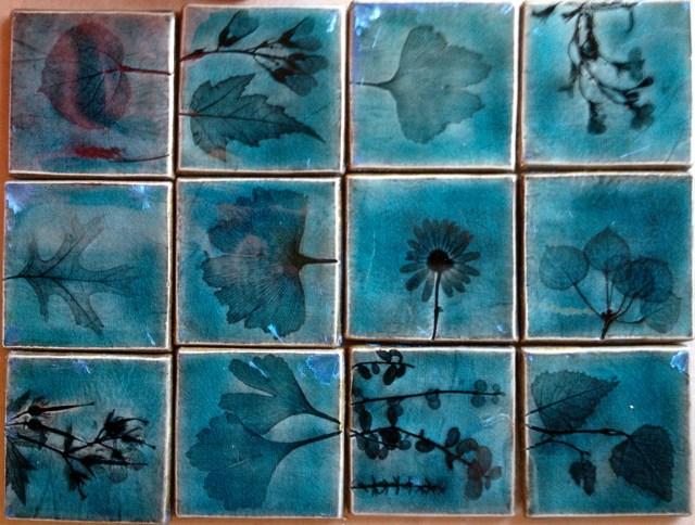 Plant impression & crystalline glaze