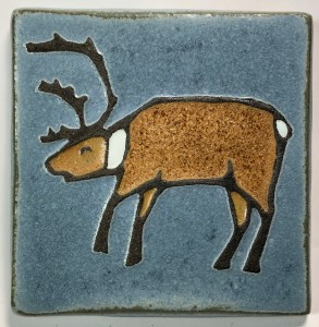 "4"" Caribou Art Tile"