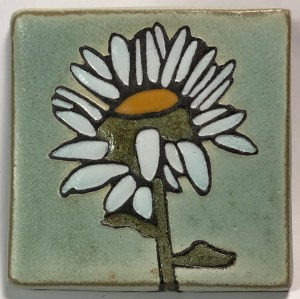 "4"" Daisy Art Tile"
