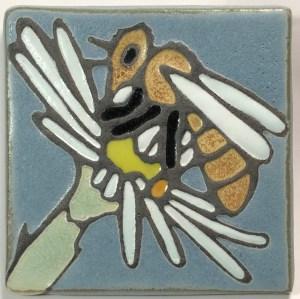"4"" Honeybee Art Tile"