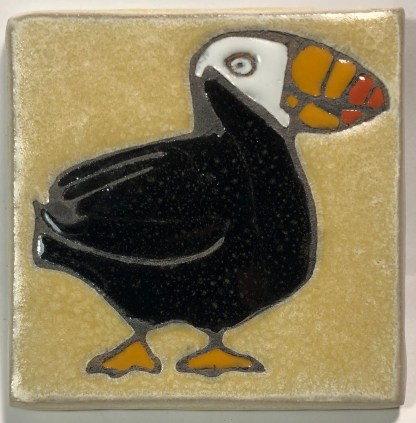 "4"" Tufted Puffin Art Tile"