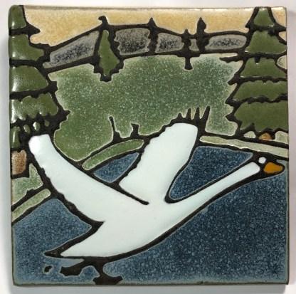 """6"""" Swan Art Tile"""
