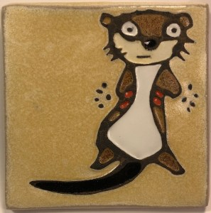 "4"" Otter Art Tile"