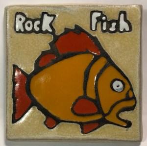 "4"" Rockfish Art Tile"