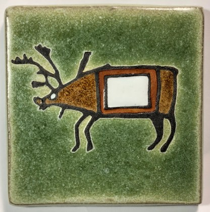 "4"" Traditional Caribou Art Tile"