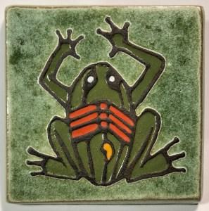 """4"""" X-ray Style Frog Art Tile"""