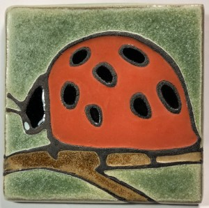 "4"" Ladybug Side View Art Tile"