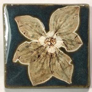 """4"""" Dogwood Art Tile"""