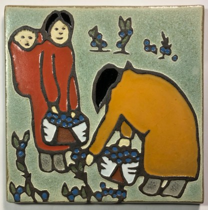 "6"" Berry Pickers Art Tile"