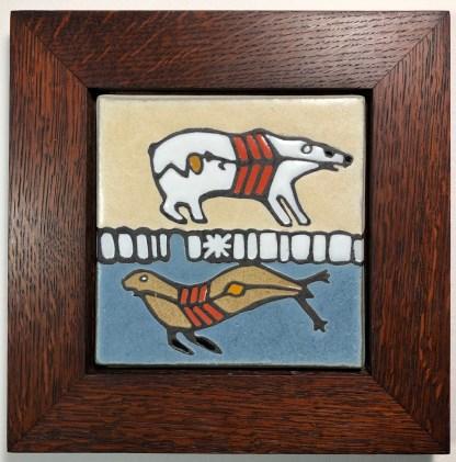 Redish Brown Oak Frame & Tile