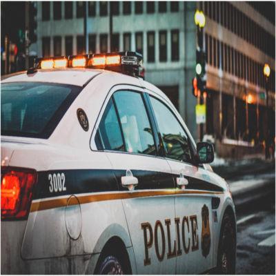 A police car