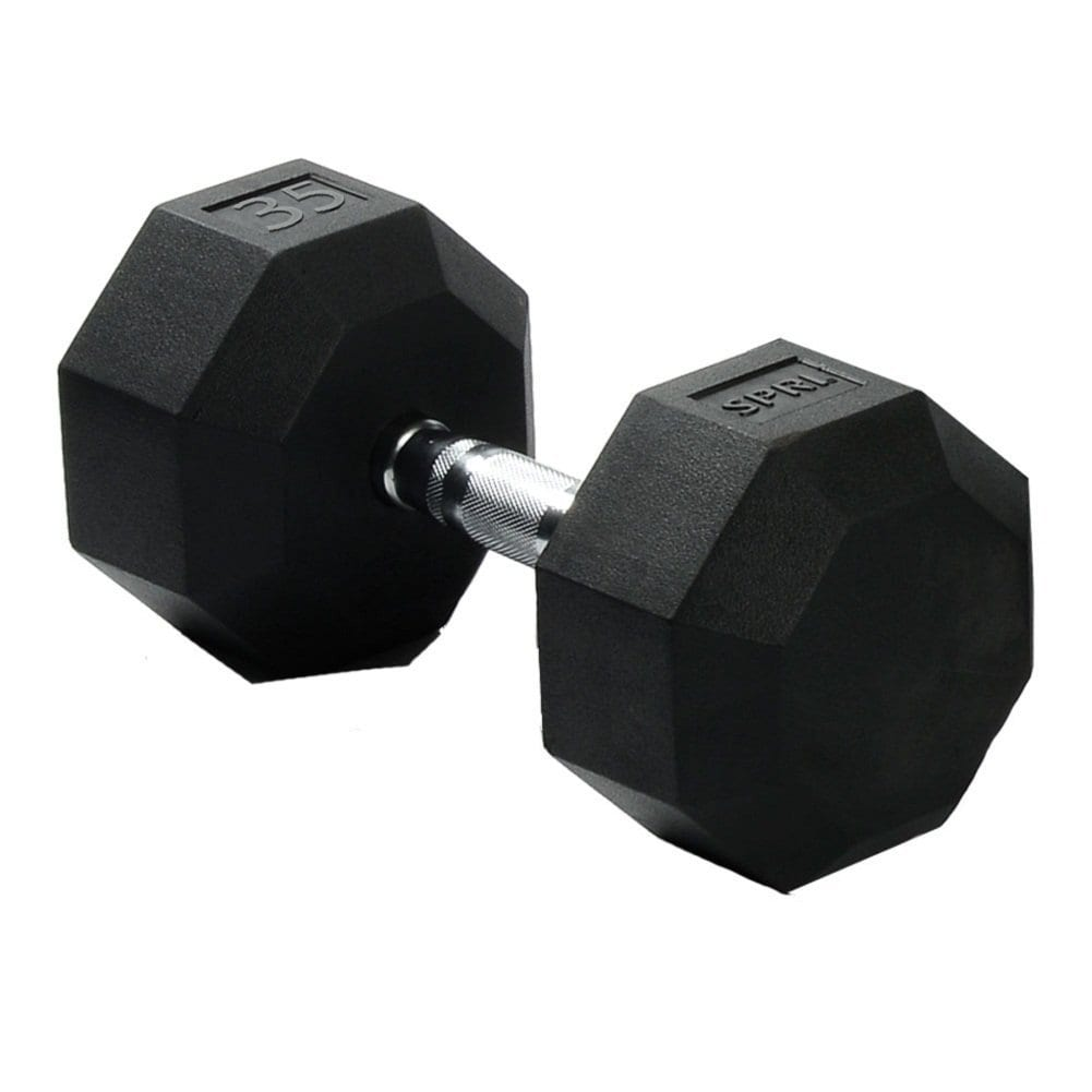 Deluxe Rubber Dumbbells – 35lb