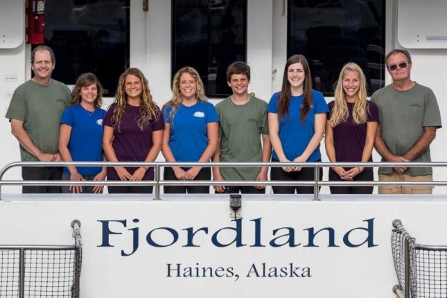 The Fjordland's Crew on the Fjord Express to Juneau tour