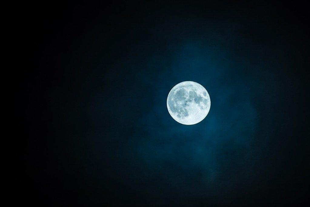moon, full moon, sky