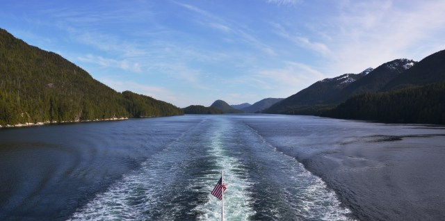 AMHS - Columbia - Finlayson Channel - View from back of Boat