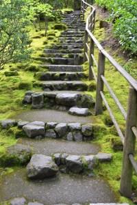 Japanese Garden Stone Stairs