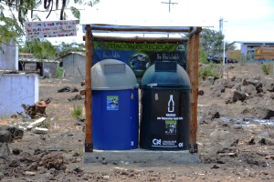 Recycling on Floreana